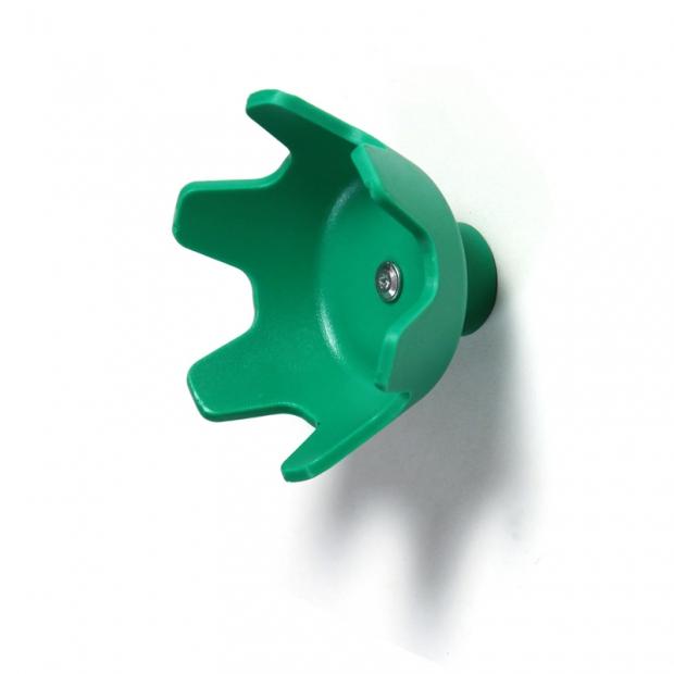 Nástěnný věšák Tripla C, zelený