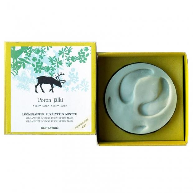 Přírodní mýdlo se stopou soba 85g, máta eukalyptus