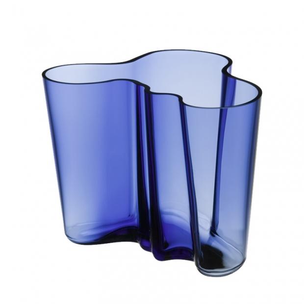 Váza Alvar Aalto 160mm, ultramarinová modrá