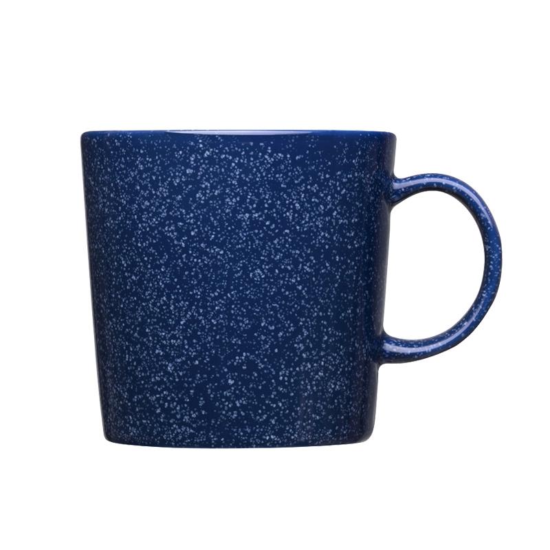 Hrnček Teema 0,3l, modrý s bodkami