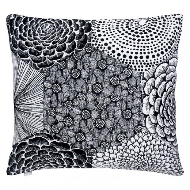 Povlak na polštář Ruut 45x45, černo-bílý