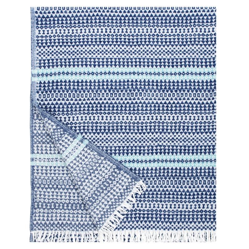 Vlněná deka Aino 130x170, modro-tyrkysová