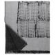 Vlněná deka Mesi 140x180, bílo-černá