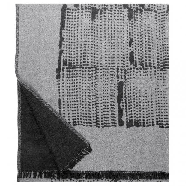 Vlnená deka Mesi 140x180, bielo-čierna