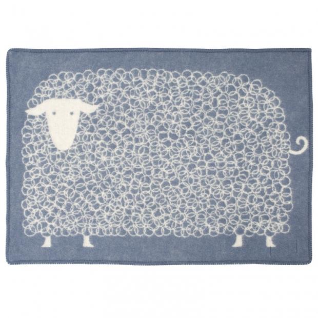 Vlněná deka Kili 90x130, modrá