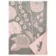 Vlněná deka Koira ja Kissa 130x180, šedo-růžová