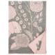 Vlnená deka Koira ja Kissa 130x180, sivo-ružová