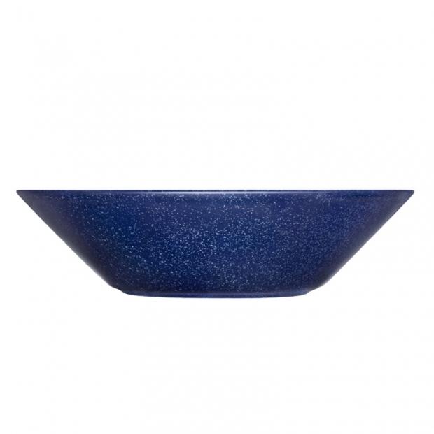 Hluboký talíř Teema 21cm, modrý s tečkami