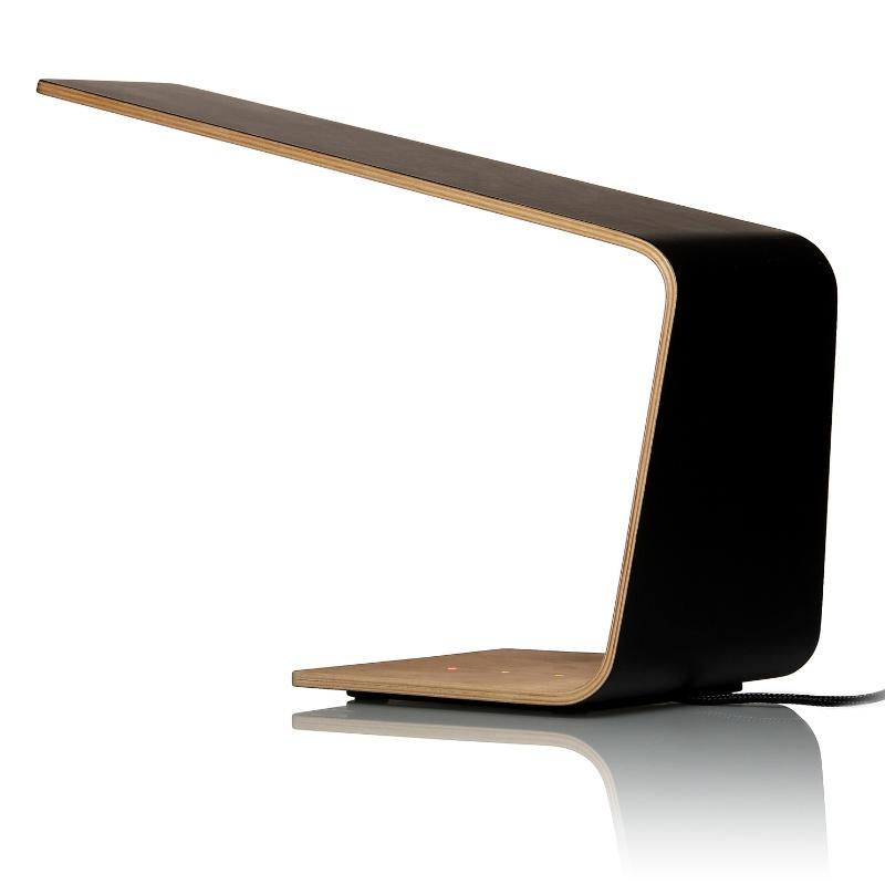 Stolní lampa LED1, černá / bříza