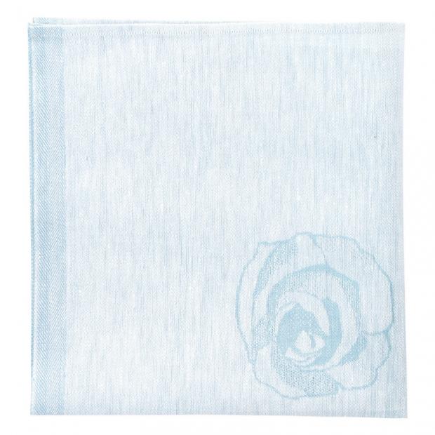 Ľanový obrúsok Ruusua 48x48, modrý