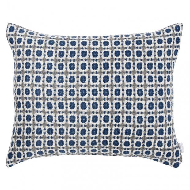 Vlněný povlak na polštář Corona 50x40, modrý
