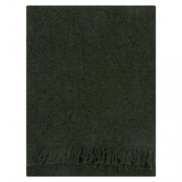 Vlnená deka Corona Uni 130x170, tmavo zelená