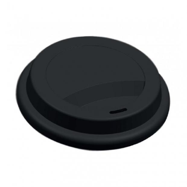 Silikonové víčko na kávu, černé