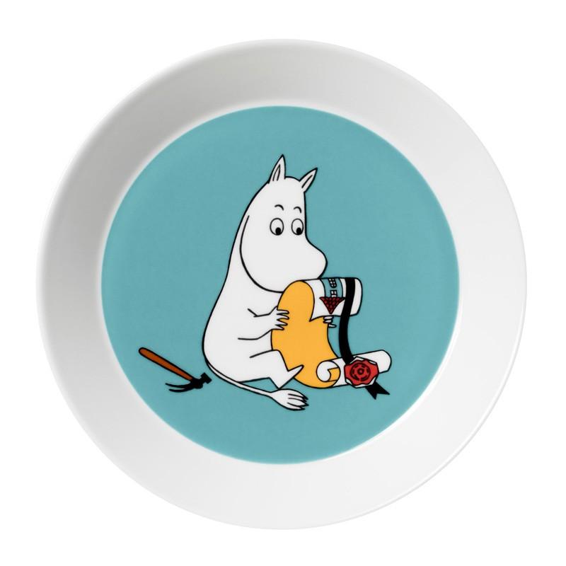 Talíř Moomintroll 19cm, tyrkysový
