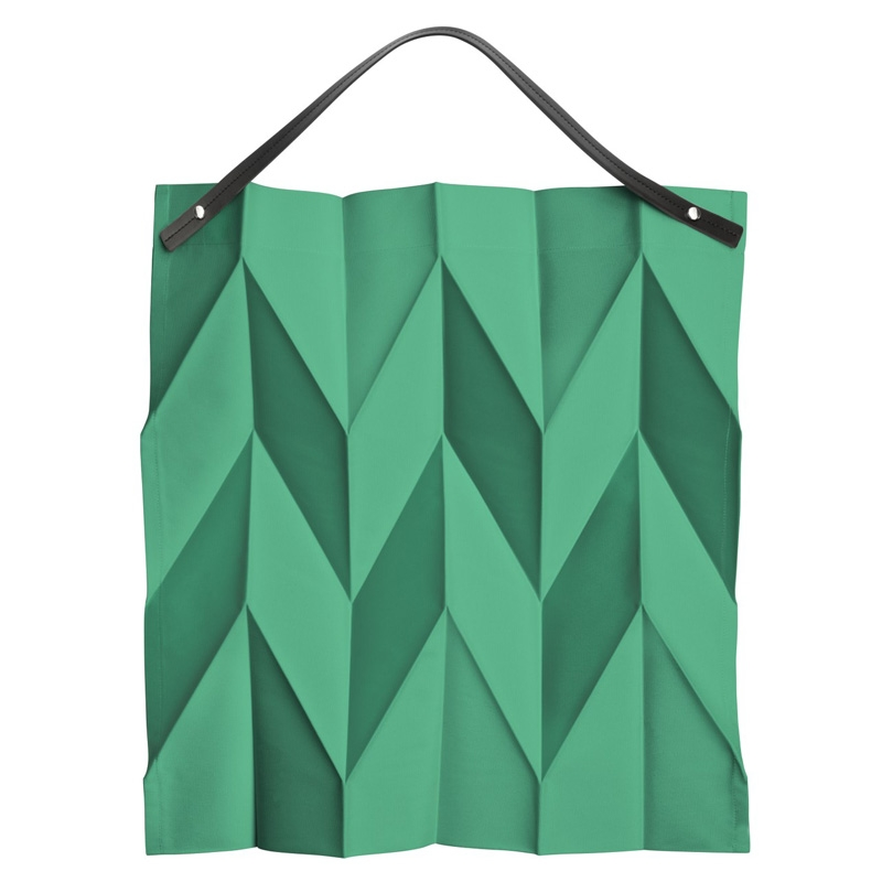 Taška Iittala X Issey Miyake 54x53cm, smaragdově zelená