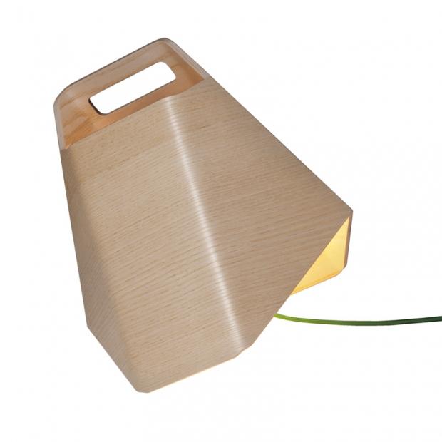 Stolní lampa Alma, jasan