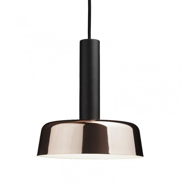 Závesná lampa Cafe 240, čierna / meď