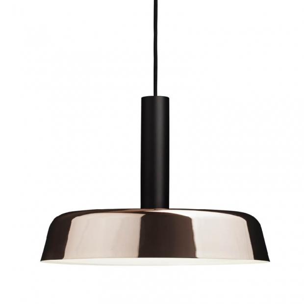 Závesná lampa Cafe 370, čierna / meď