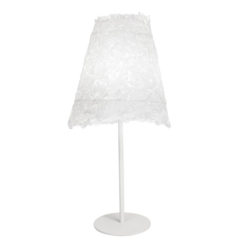 Stolní lampa Frost, bílý podstavec