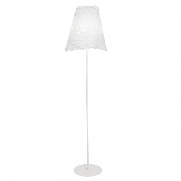 Stojacia lampa Frost, biely podstavec