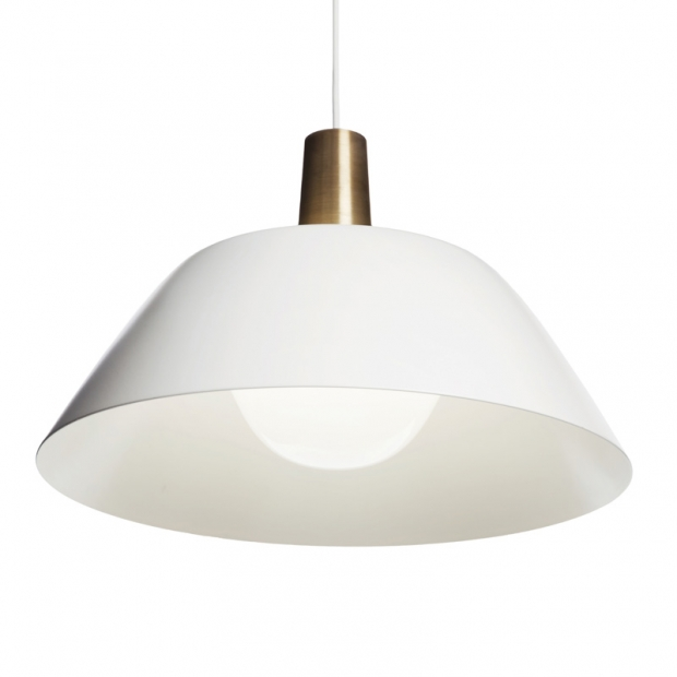 Závěsná lampa Ihanne, bílá