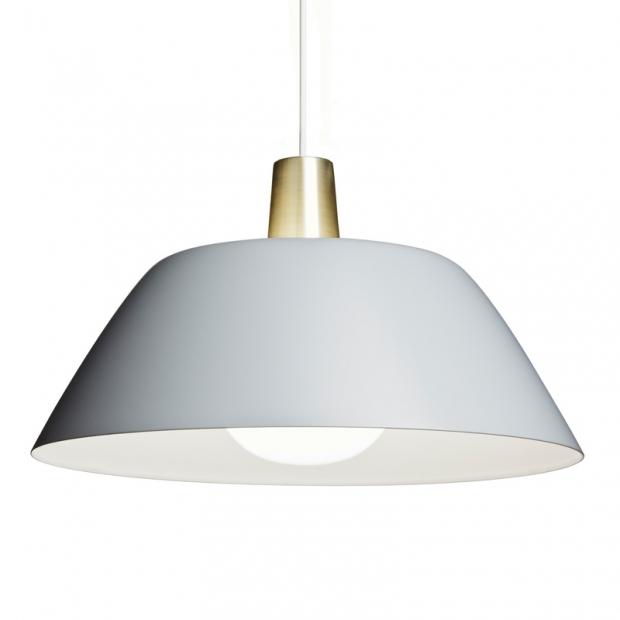 Závesná lampa Ihanne, sivá