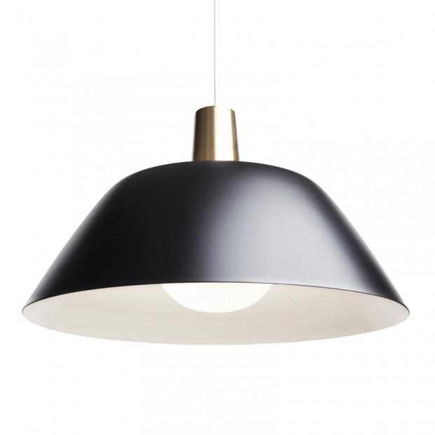 Závesná lampa Ihanne, čierna