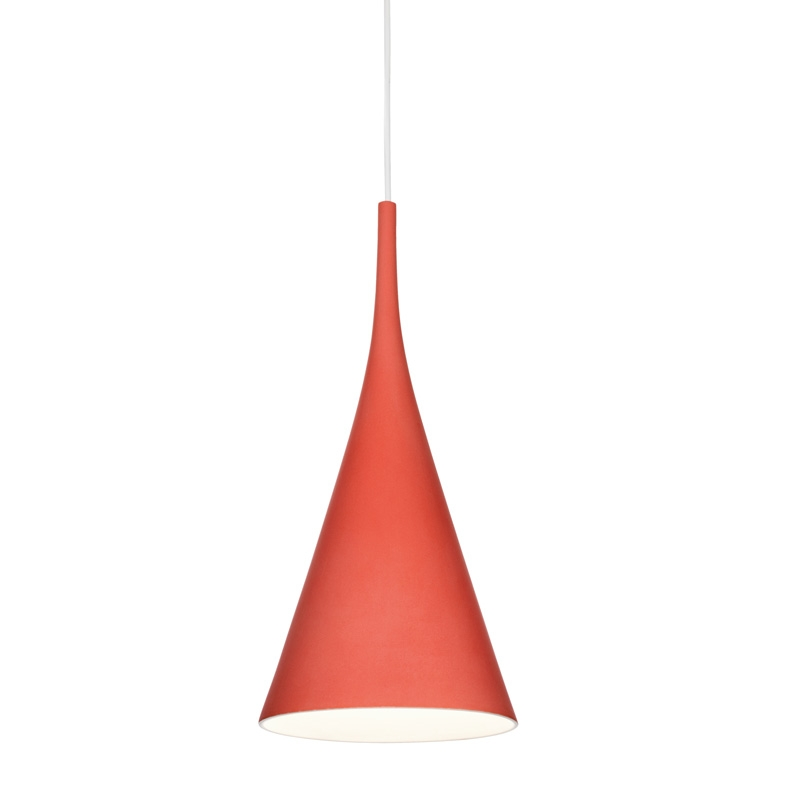 Závěsná lampa Lambada, červená