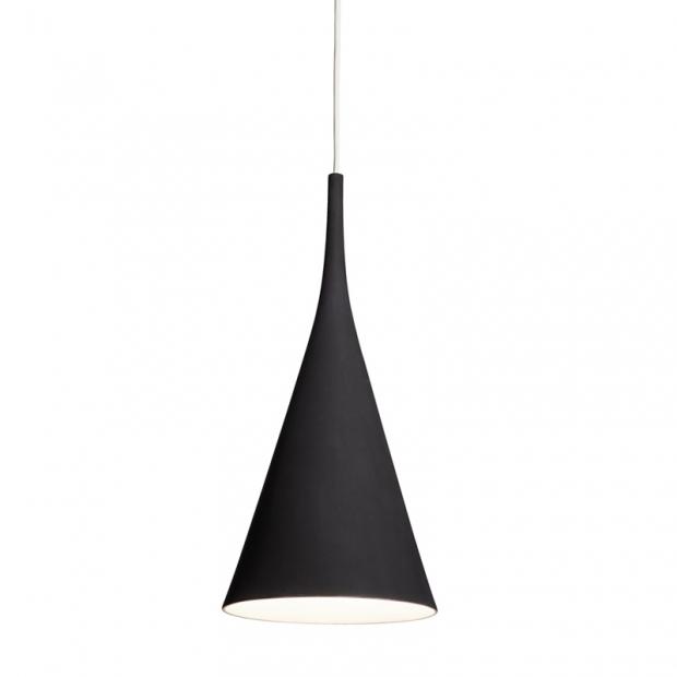 Závesná lampa Lambada, čierna