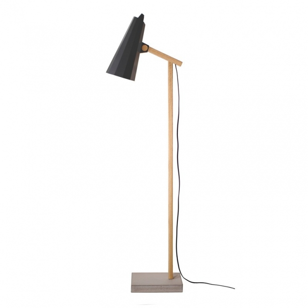 Stojací lampa Filly, krátké rameno / černá