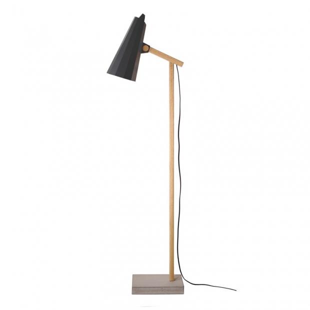 Stojacia lampa Filly, krátke rameno / čierna