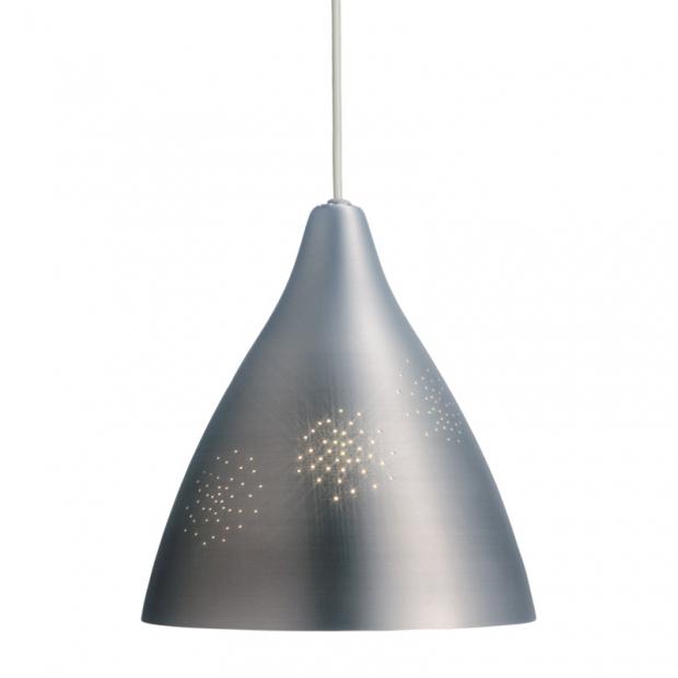 Závesná lampa Lisa 270, strieborná