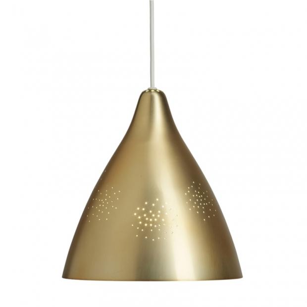 Závesná lampa Lisa 270, mosadzná