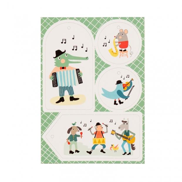 Menovky na darčeky Tiny Big Band, 4ks