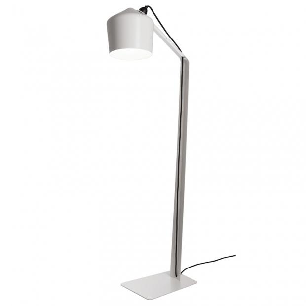 Stojacia lampa Pasila, biela