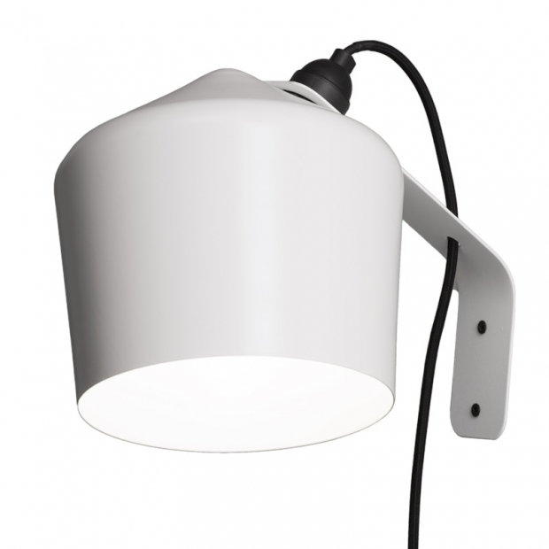 Nástenná lampa Pasila, biela