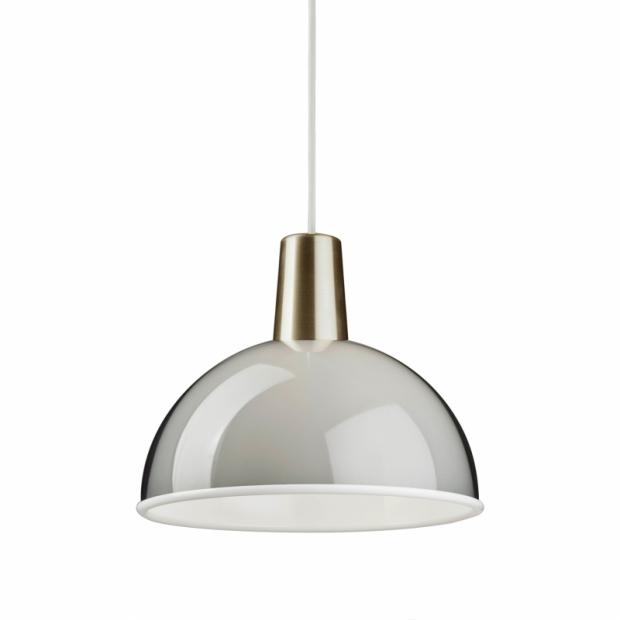 Závěsná lampa Kuplat, šedá