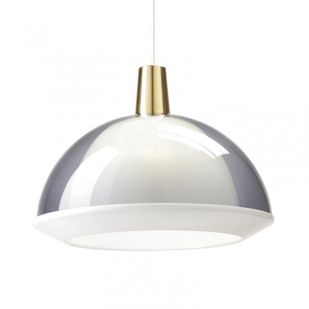 Závěsná lampa Kuplat 400, šedá