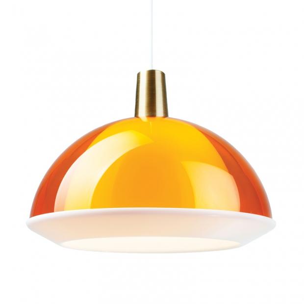 Závěsná lampa Kuplat 400, žlutá