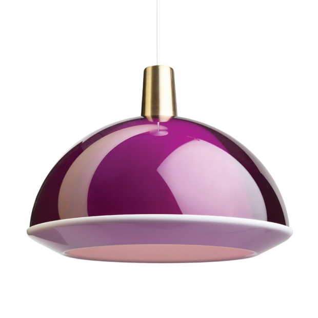 Závesná lampa Kuplat 400, fialová