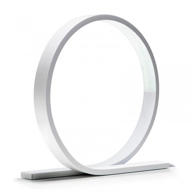 Stolní lampa Loop, bílá