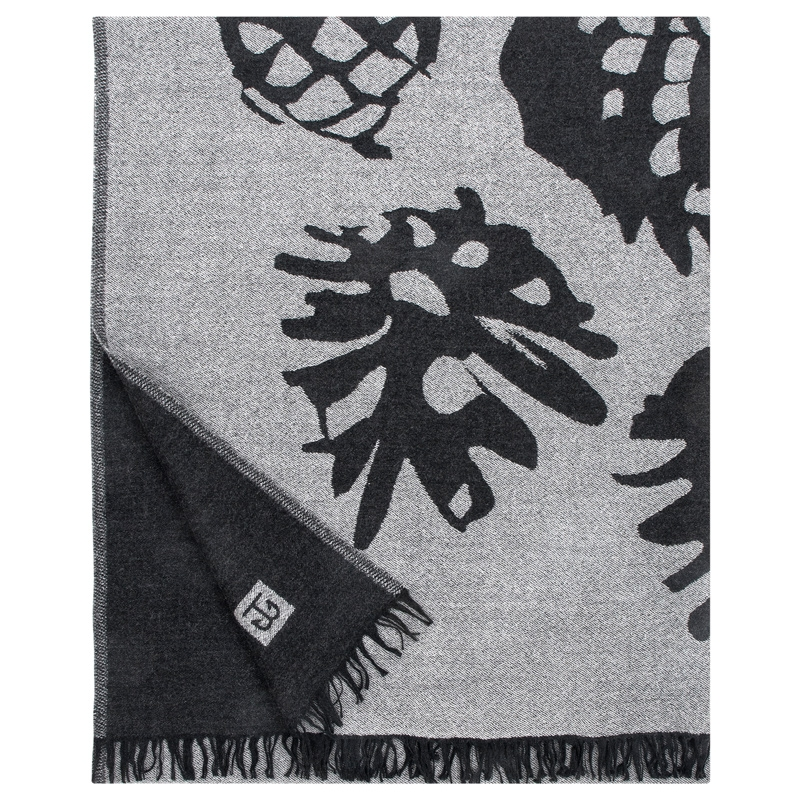 Deka Käpy 140x180, šedo-černá