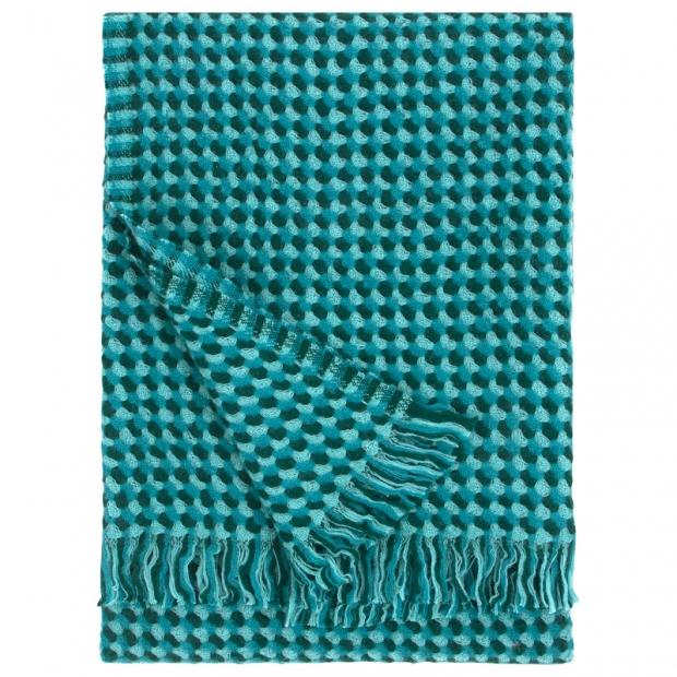Vlnená deka Alva 130x170, petrolejová