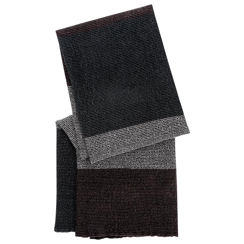 Osuška Terva 85x180, černo-šedo-hnědá