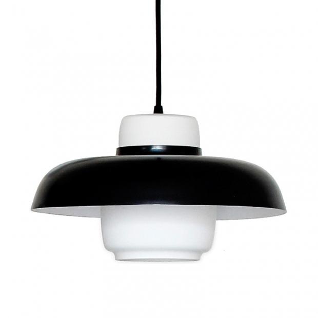 Závesná lampa Lento 3, čierna