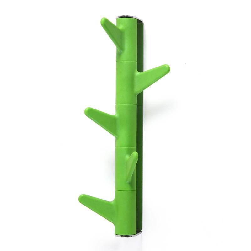 Věšák na zeď Oka, 5 háčků / zelený