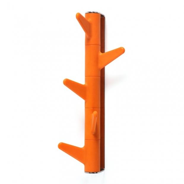 Vešiak na stenu Oka, 5 háčikov / oranžový