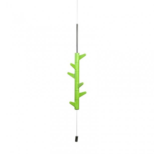 Závěsný věšák na zeď Oka, 6 háčků / zelený
