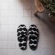 Pantofle do sauny Räsymatto M, černé