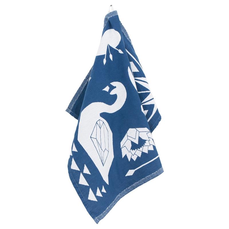 Utěrka Cygnus 48x70, modro-bílá